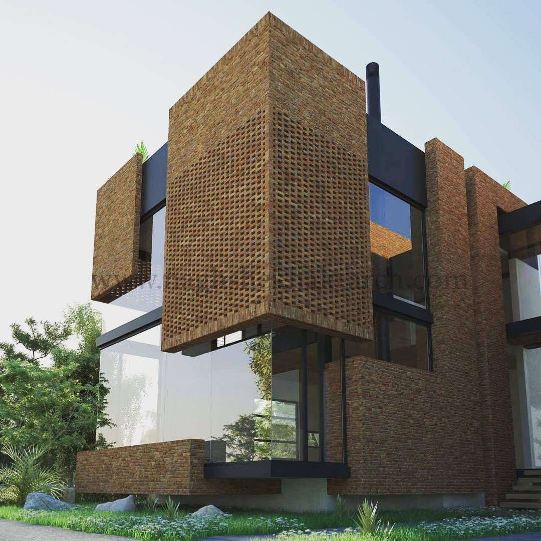 Amazing Architecture On Instagram Brick House By Naghshekhak