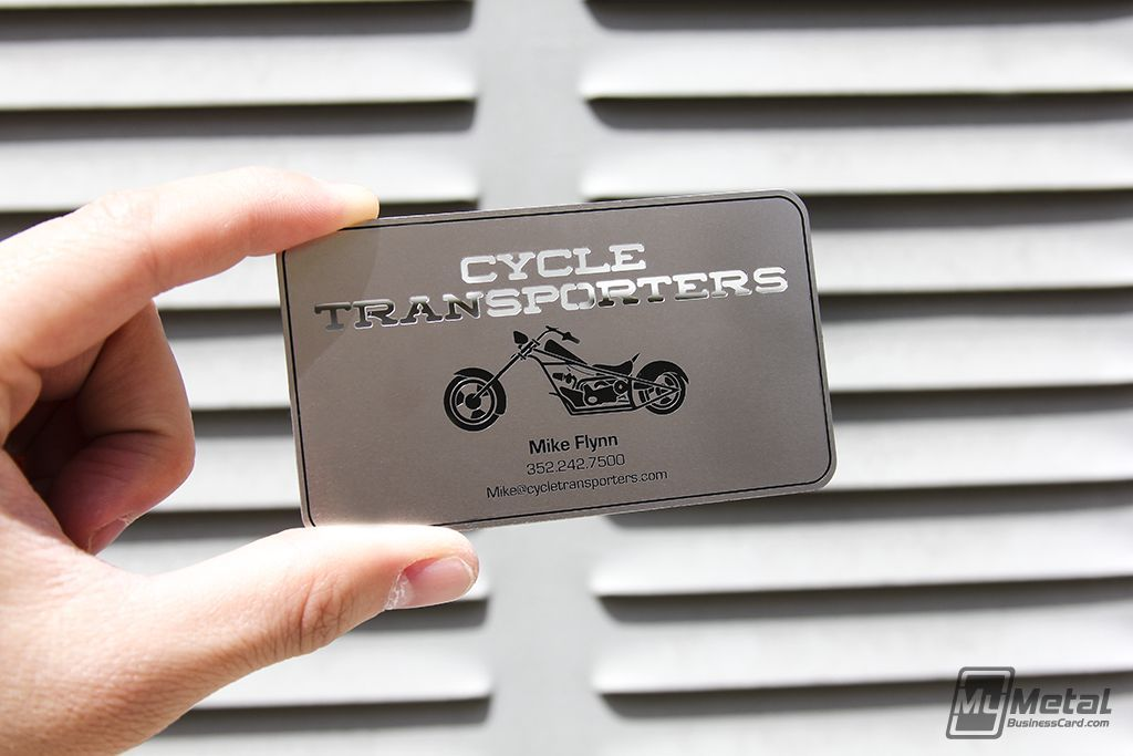 Metal business card motorcyclecard businesscards screenprinting metal business card motorcyclecard businesscards screenprinting reheart Gallery