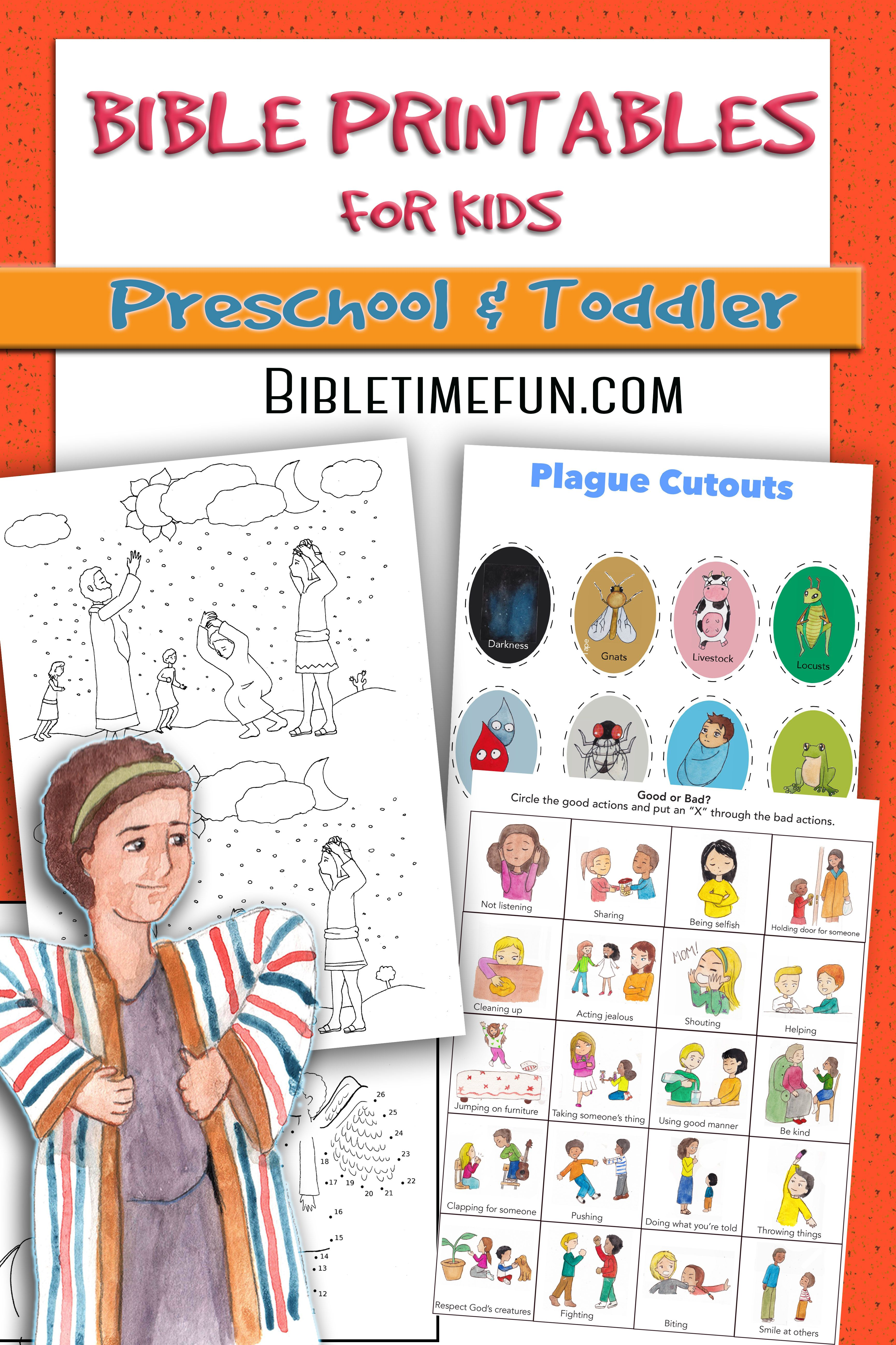 Fun Bible Worksheets For Toddlers And Preschoolers