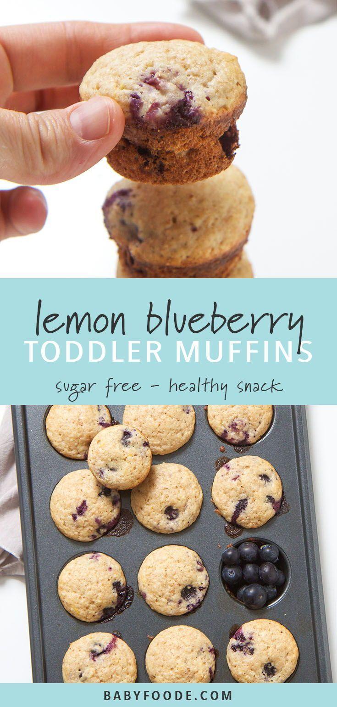 Blueberry + Lemon Toddler Muffins images