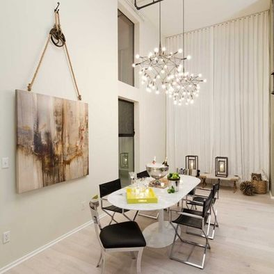 Decorating With Vintage Pulleys Dining Room Chandelier Dining