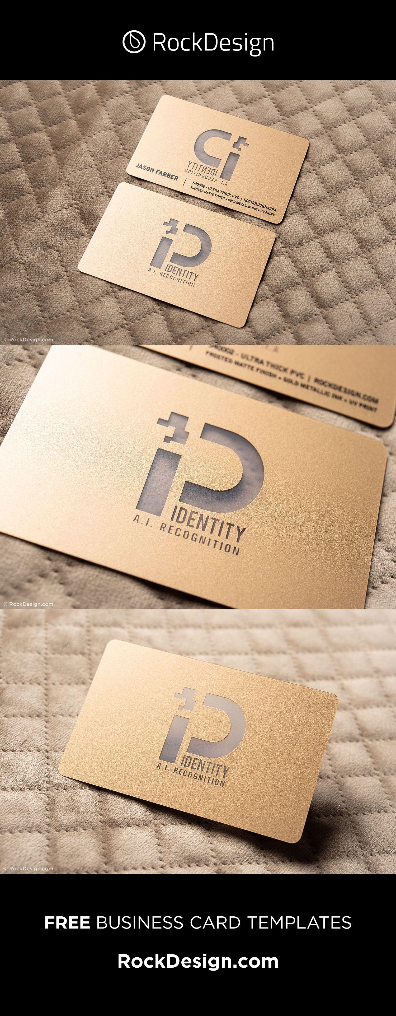 Elegant Metallic Gold Pvc Plastic Free Name Card Template P Identity Metal Business Cards Business Card Inspiration Business Card Template Design