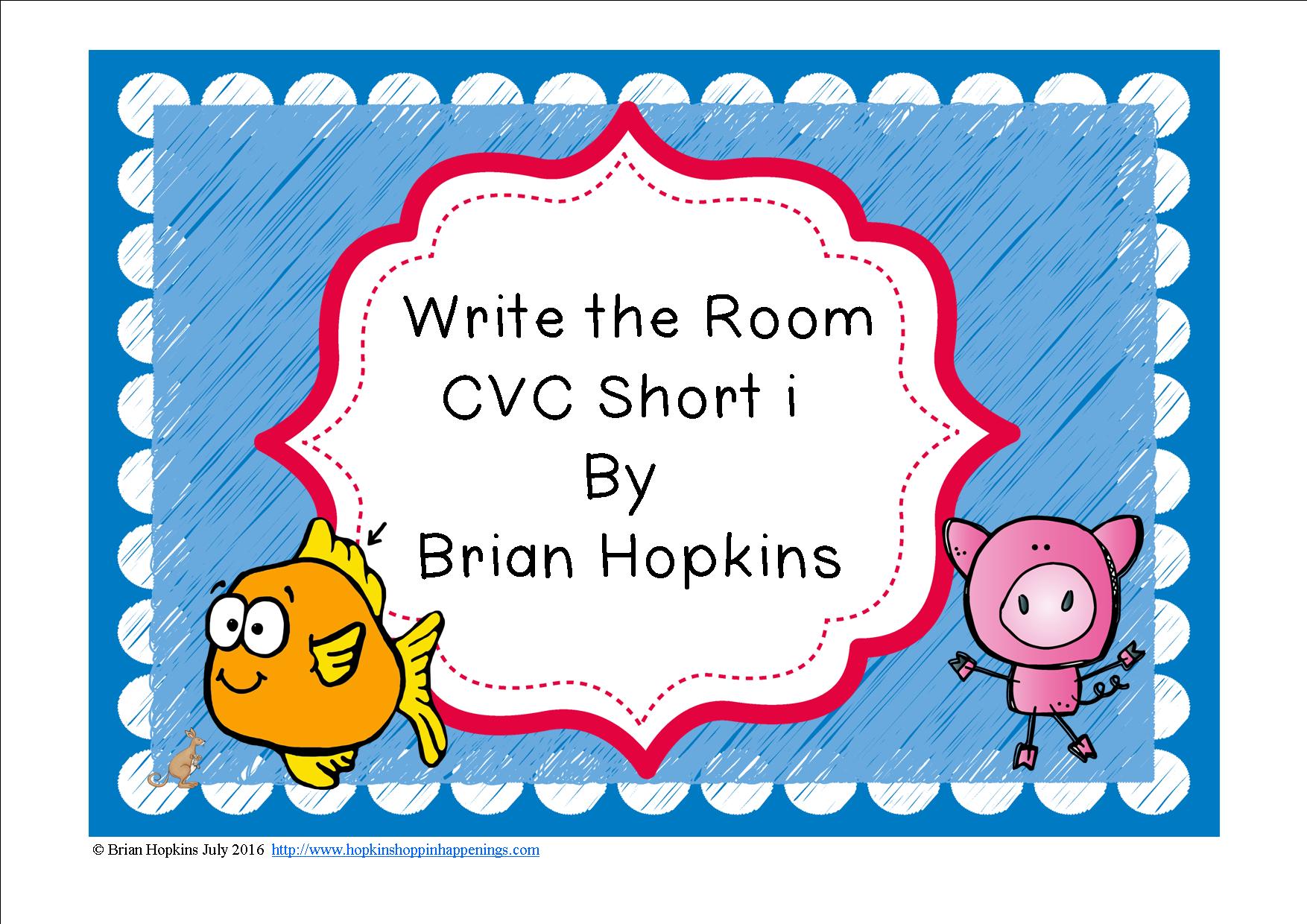 Write The Room Short I Words