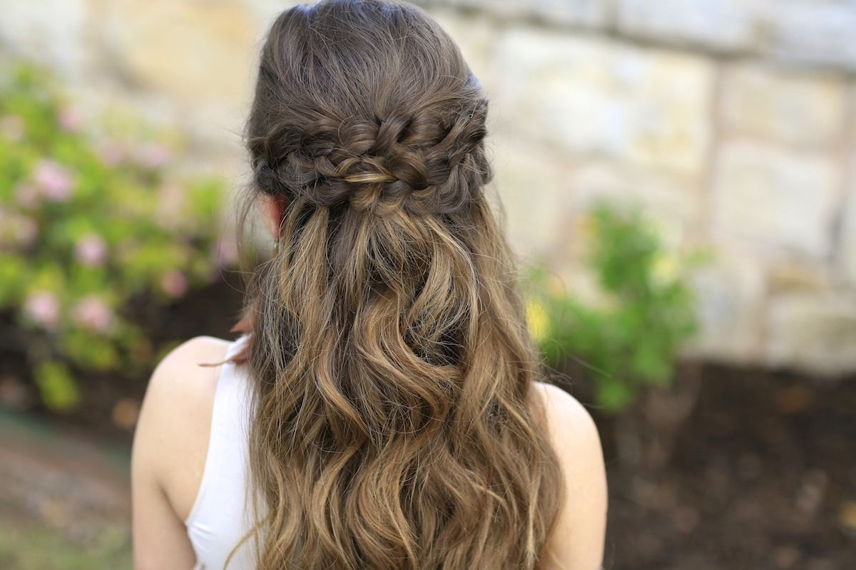 Sensational Braided Half Up Half Up And Cute Girls Hairstyles On Pinterest Hairstyles For Women Draintrainus