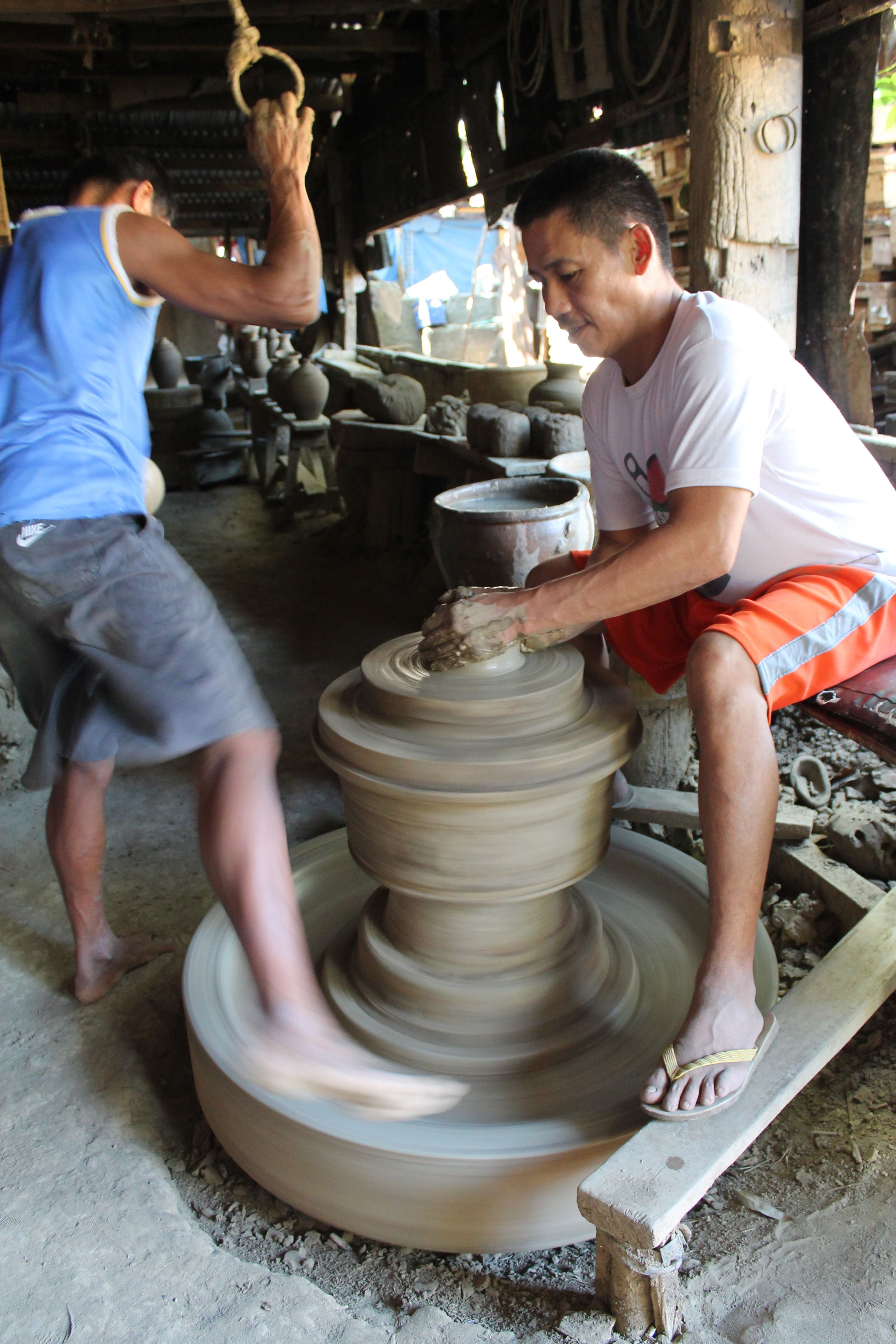 """""""Burnayan"""" or pottery making is one of the earliest arts practiced by Filipinos in Vigan, Ilocos Sur."""