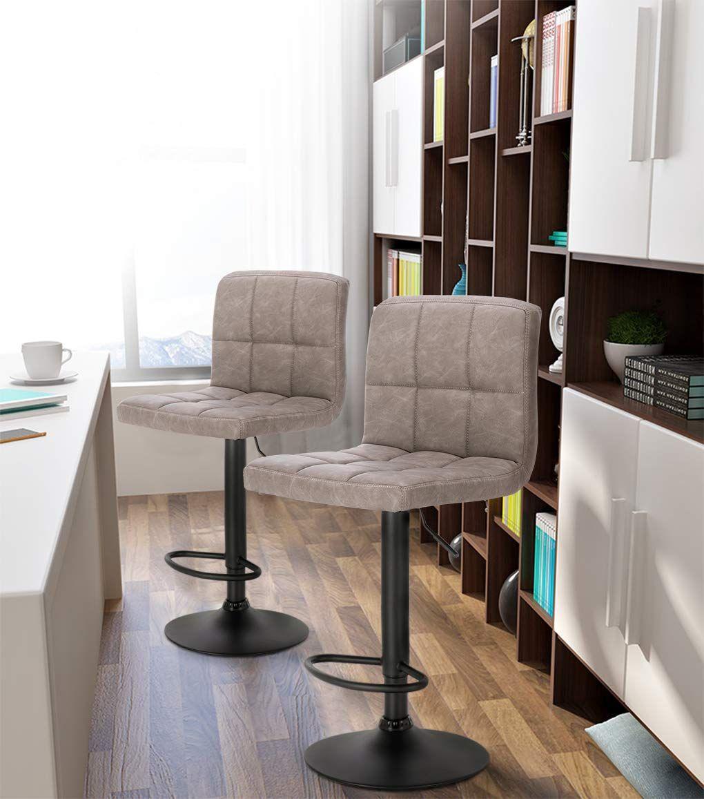 2er Set Barstuhl Tresenhocker Drehbar Stahl Home Decor Furniture Home