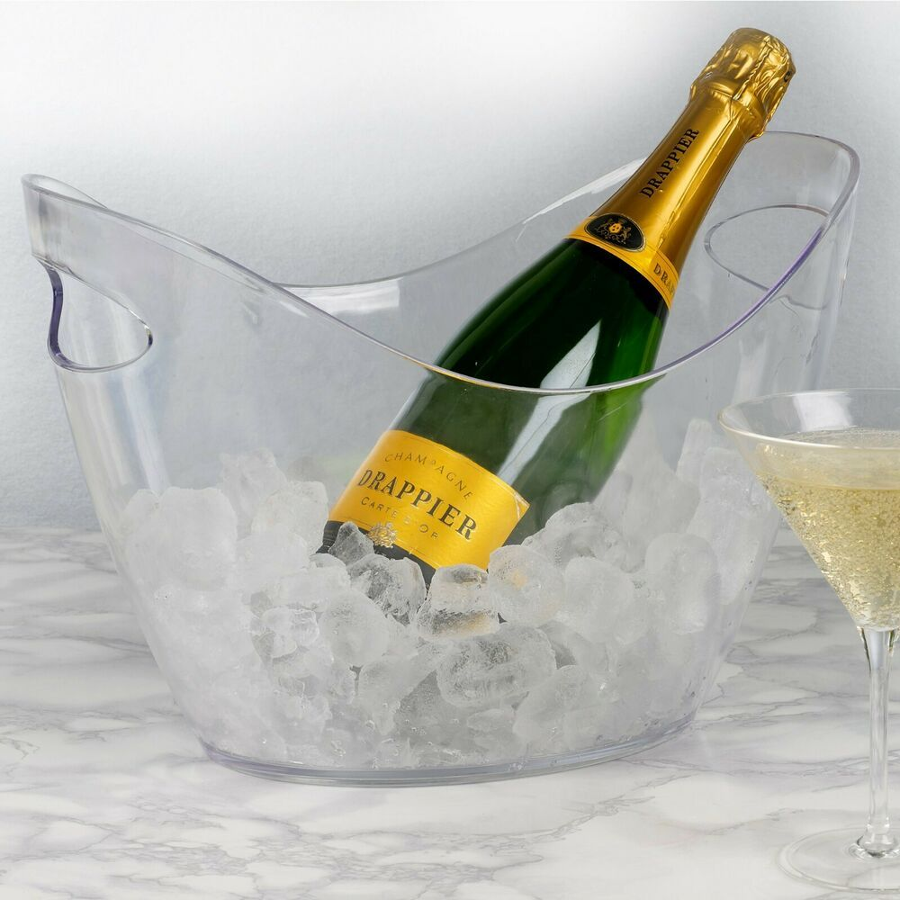 Large Oval Plastic Ice Bucket Champagne Beer Wine Drinks