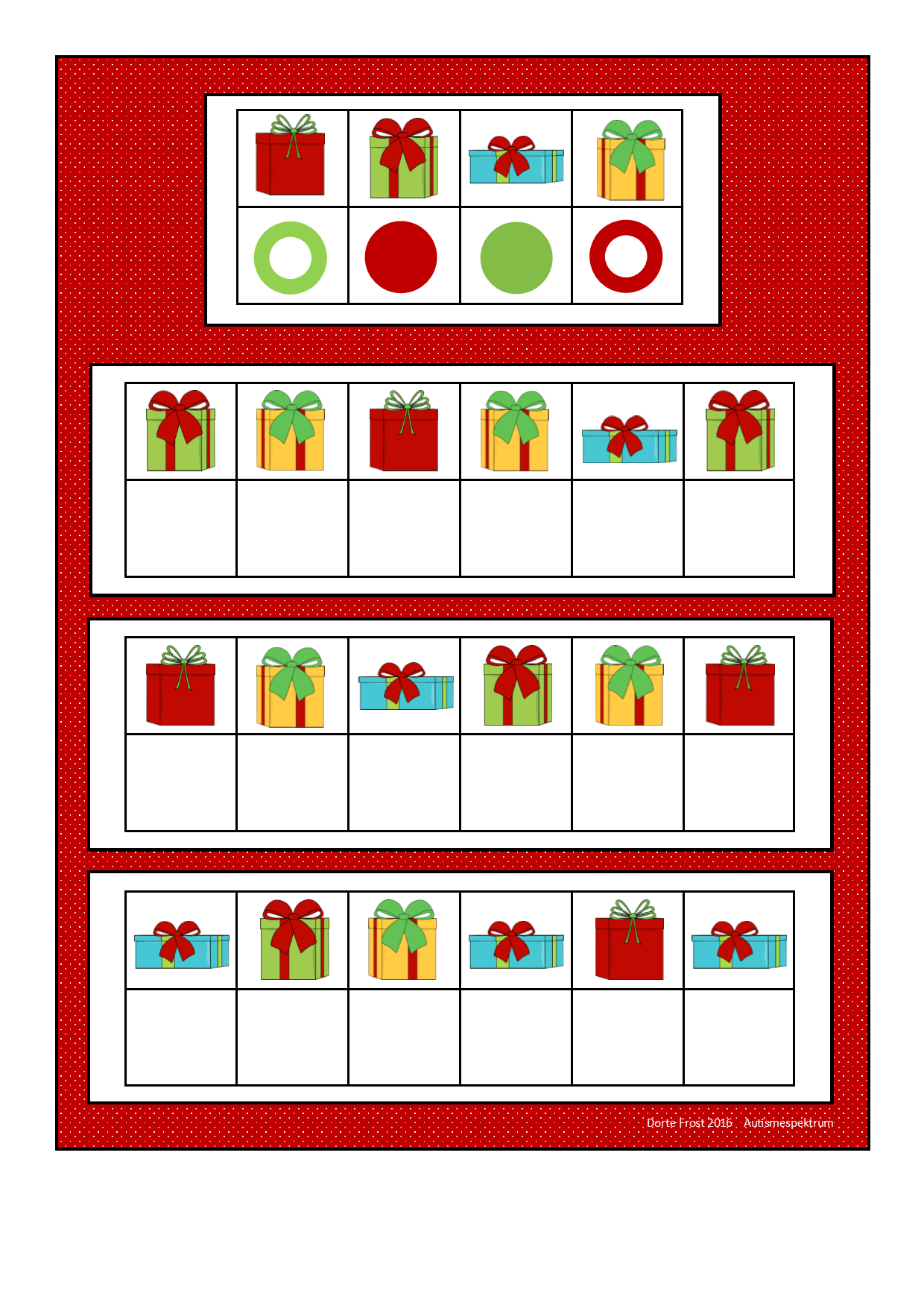 Board For The Present Visual Perception Game Find The