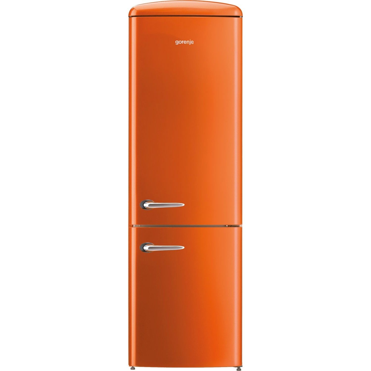 gorenje ORK193O 188.7cm Retro Freestanding Juicy Orange Fridge ...