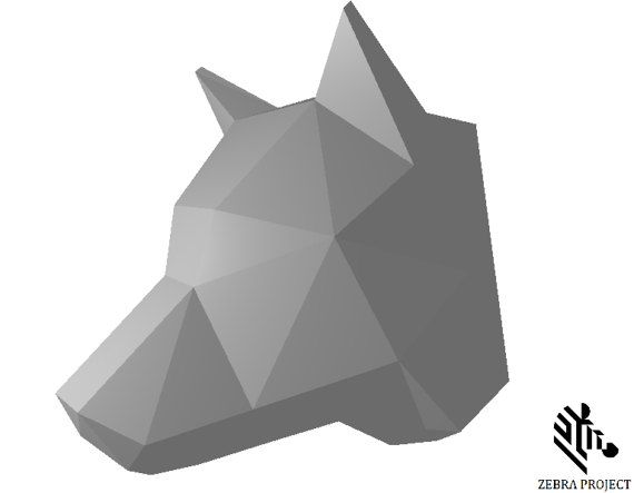 papercraft wolf head make your own wolf head from pdf template