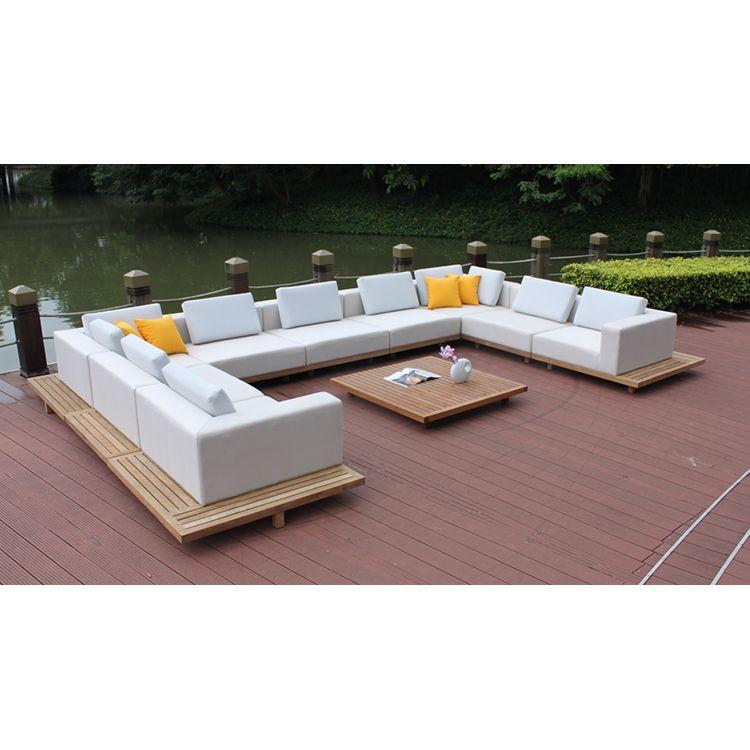 Hotsale Style Good Quality Waterproof Fabric Sofa Set Outdoor Garden Patio Teak Furniture Teak Patio Furniture Patio Furniture Teak Outdoor Furniture
