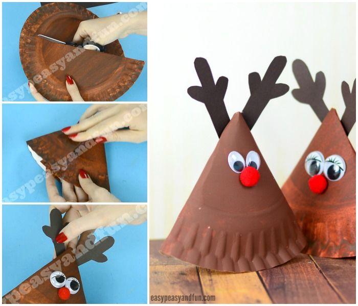 Rocking Paper Plate Reindeer & Rocking Paper Plate Reindeer   Reindeer craft Craft and Paper plate ...