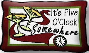 Country Marketplace - 5 O'Clock Pillow, $12.00 (http://www.countrymarketplaces.com/5-oclock-pillow/)