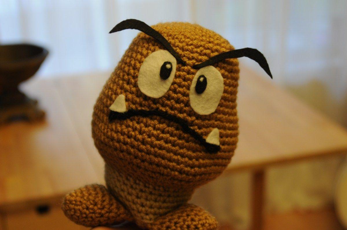 Goomba angry eyes Super Mario amigurumi crochet Free pattern ...