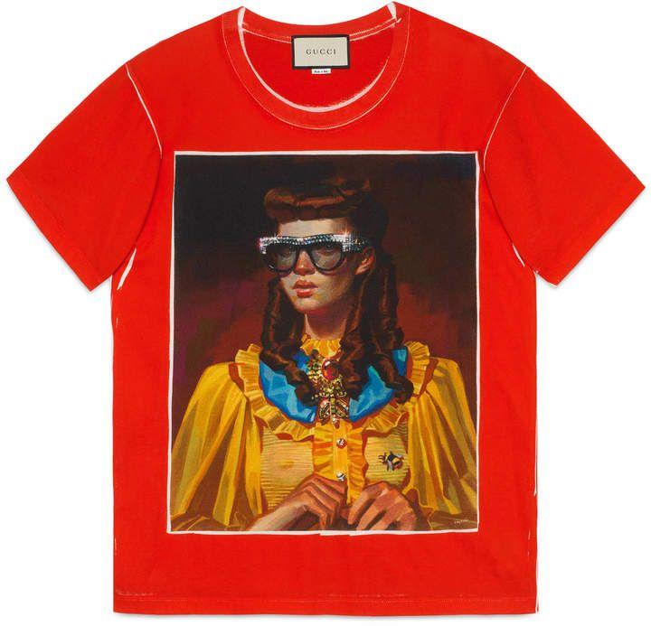 6ff36ba4b Gucci Ignasi Monreal print T-shirt | style | Gucci shirts, Gucci tee ...