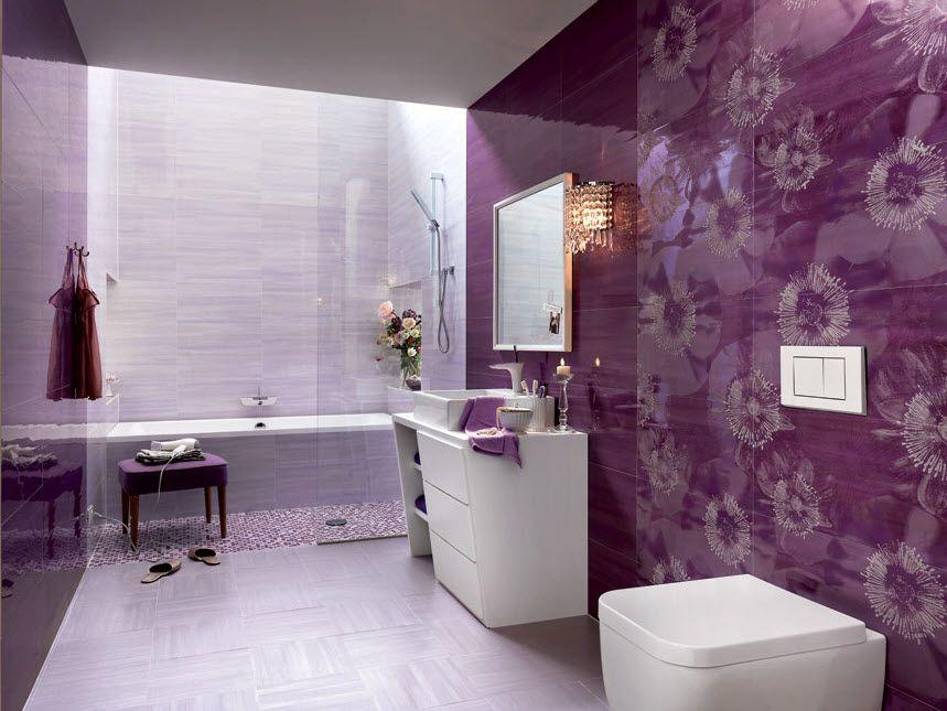 Cer mica para cuartos de ba o diferentes modelos dise os y colores cuarto de ba o color lila - Combinaciones de colores de ceramicas para banos ...
