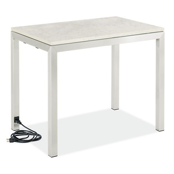 portica end tables with power and usb outlets end tables living room board stacey. Black Bedroom Furniture Sets. Home Design Ideas