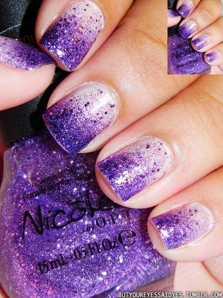 I ♥ Nail Designs / gorgeous! Purple Glitter ... - I ♥ Nail Designs / Gorgeous! Nails Pinterest Make Up, Pedi