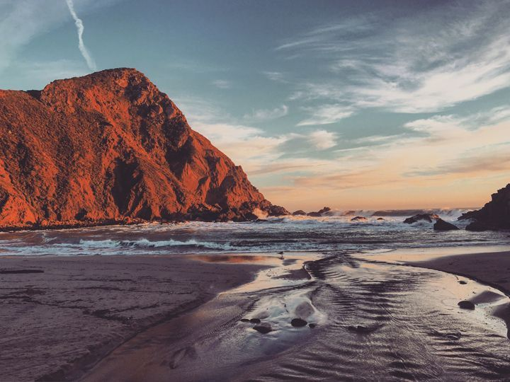 Seagull evil lair - Luxury Prints - Paintings & Prints Landscapes & Nature Beach… | ArtPal thumbnail