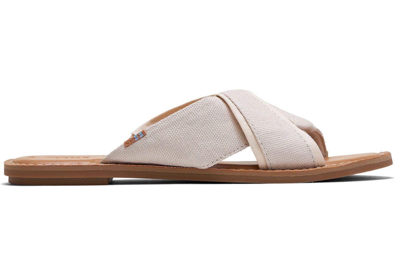 AVEC MODERATION Womens Honolulu Crisscross Slide Sandals