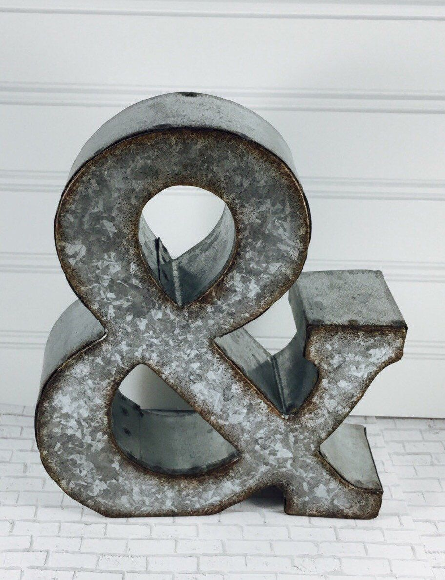 7 Inch Metal Letters Ampersand Metal Letter Metal Letters 7 Inch Lettersmall Metal