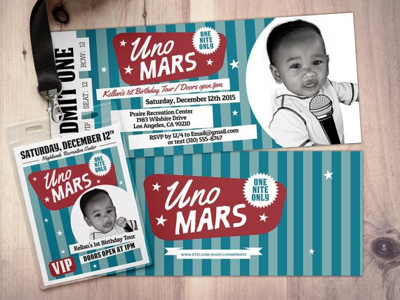 Great ROCK STAR Concert Ticket Birthday Party Invitation By LyonsPrints  Concert Ticket Birthday Invitations