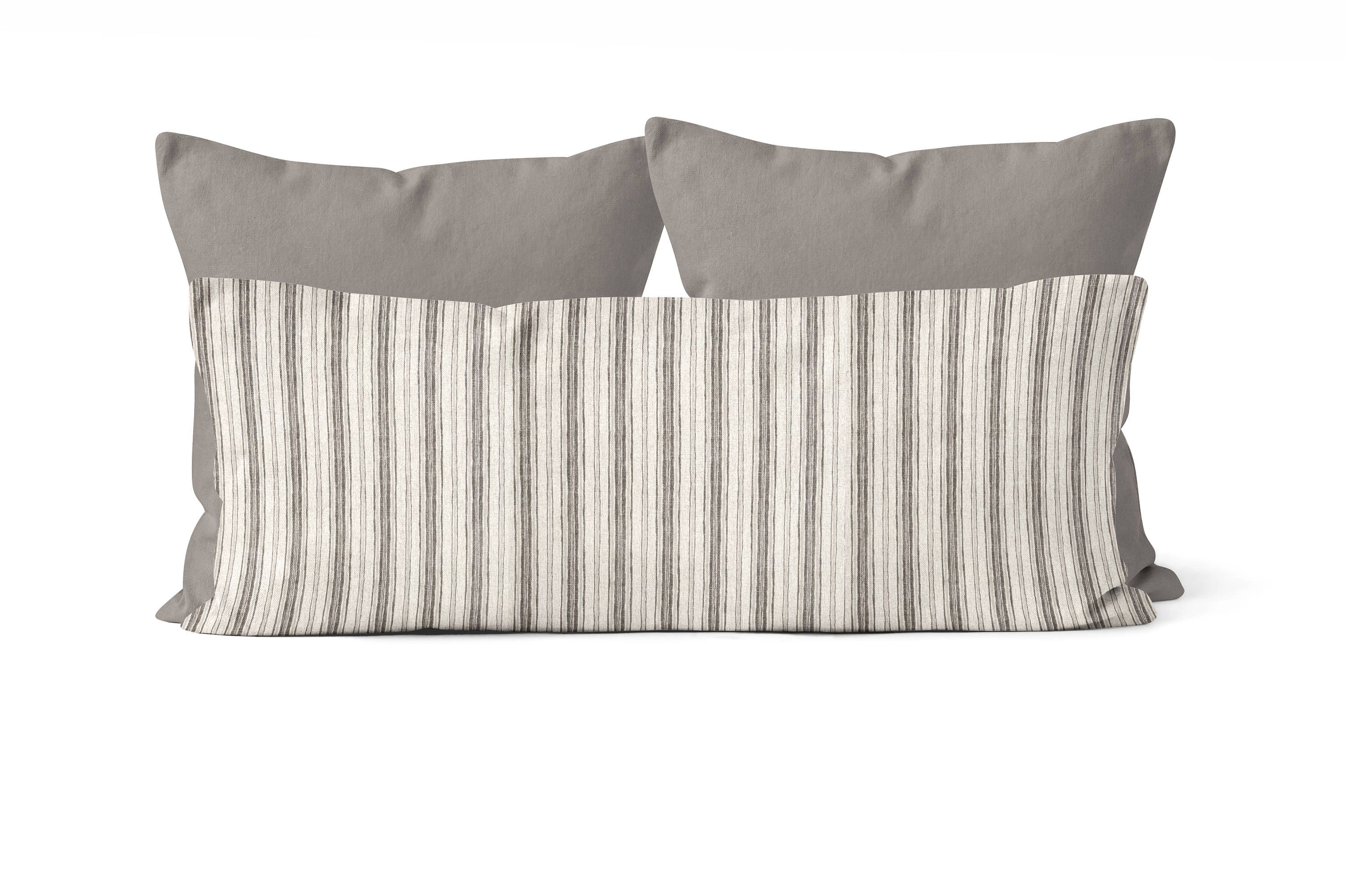 Stripe Body Pillow Cover 20x54 Inch Decorative Pillow Cover Etsy Body Pillow Covers Dark Grey Bedding Grey Bedding