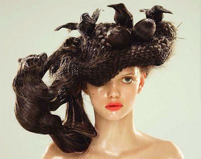 Bird Nest Hair Fashion Crazy Hair Hair Art Fantasy Hair
