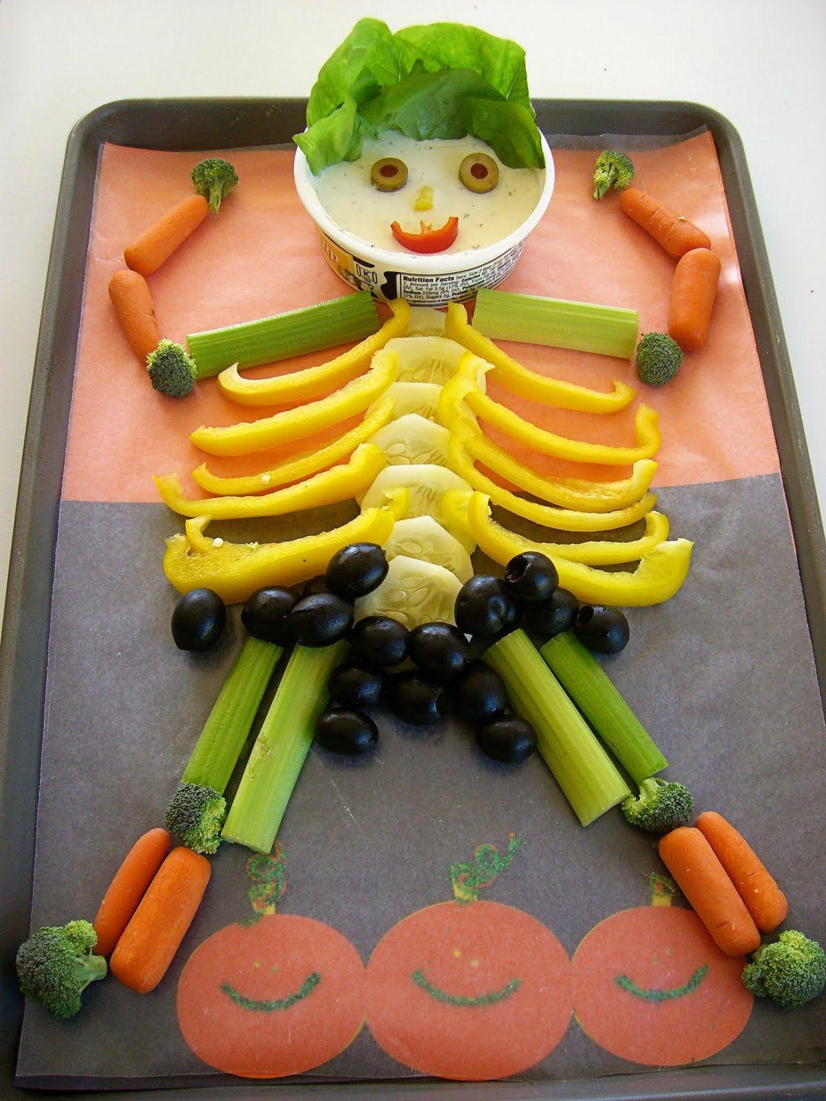 haloween treats | Nem og sund halloween snack, grønsager ...