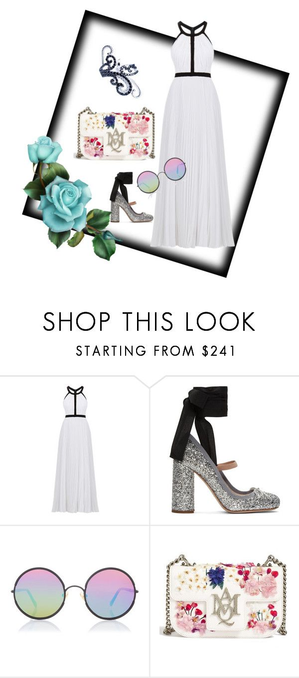 """Scilla. S art jewelry fashion style coordination."" by scilla-s ❤ liked on Polyvore featuring Nicole Miller, Miu Miu, Sunday Somewhere and Alexander McQueen"