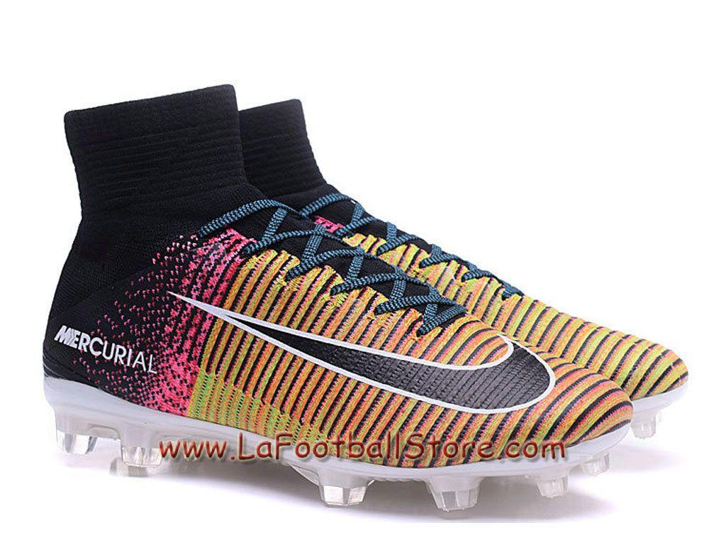 Cheap Nike Soccers Mercurial Superfly V FG Black Colorful Grey