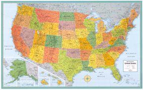 Repin This X Rand McNally M Series USA Wall Map With A - Rand mcnally us wall map