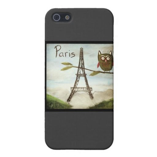 Owl Visits Paris, Part Deux Cover For iPhone 5