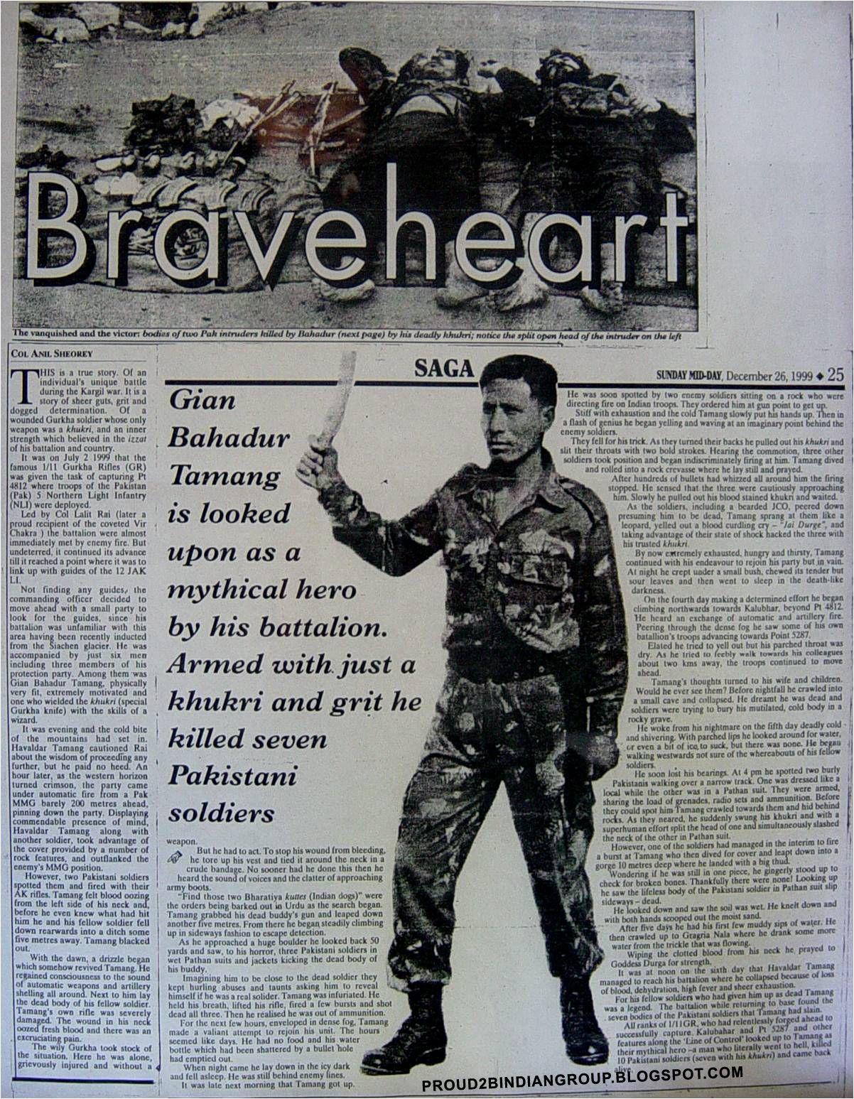 Kargil war Hero - Havaldar Gyan Bahadur Tamang | Proud to be