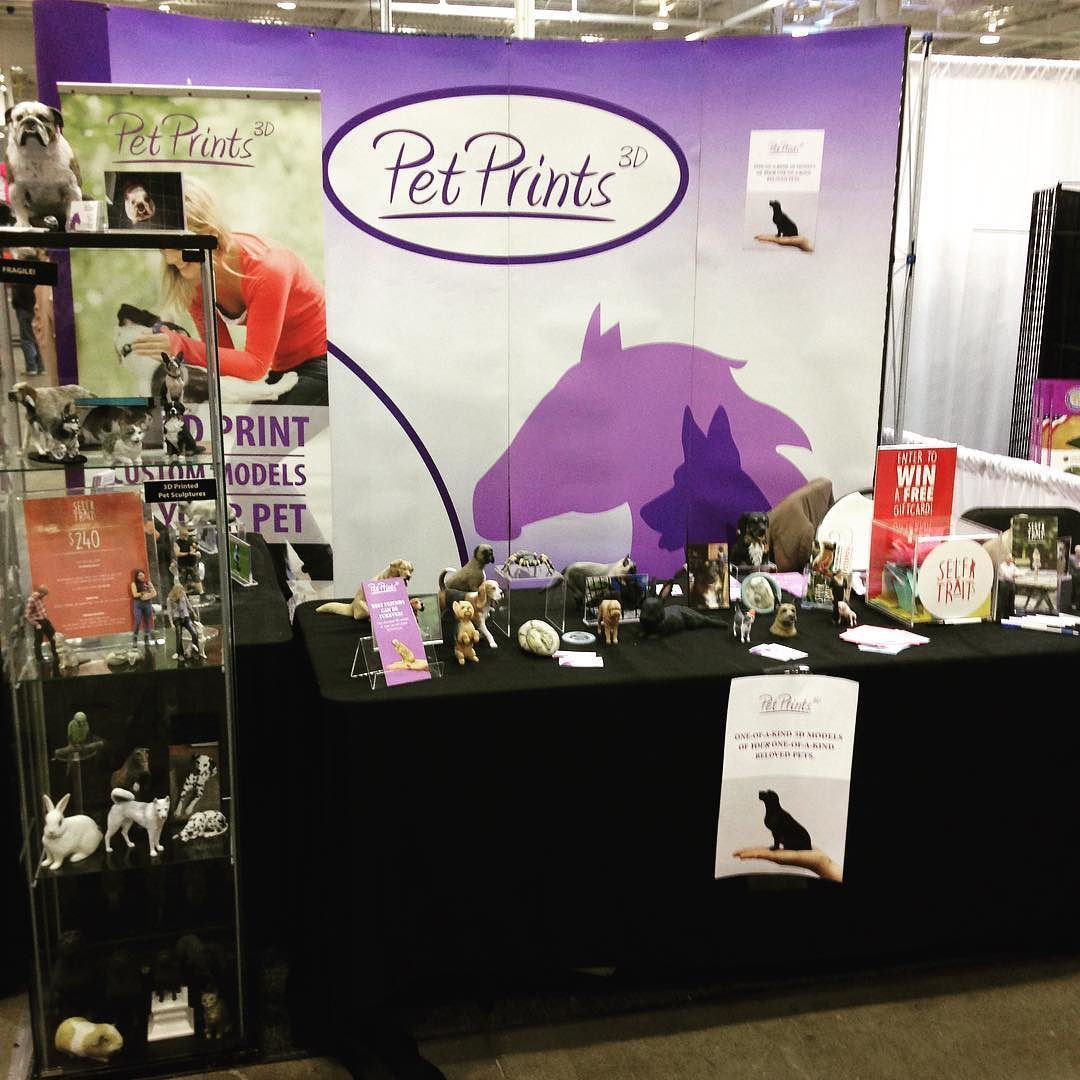 @petprints3d is getting lots of love today at the @canadianpetexpo #3dprinting #toronto #canadianpetexpo2016 by clanks