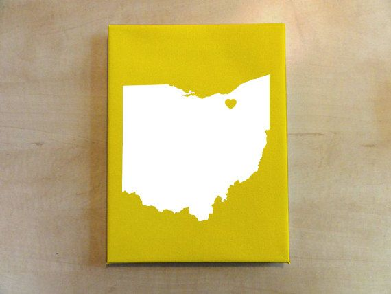 Custom Any State by HennepinStreetStudio on Etsy #ohio #custom #etsy #heart #ohioisforlovers