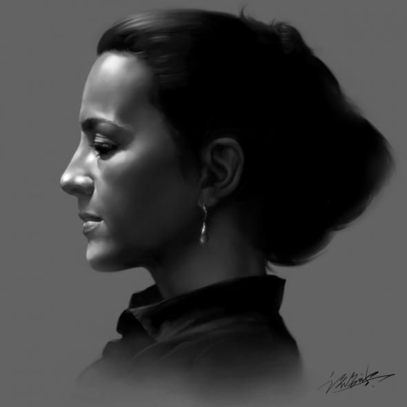 Pencil drawing of she