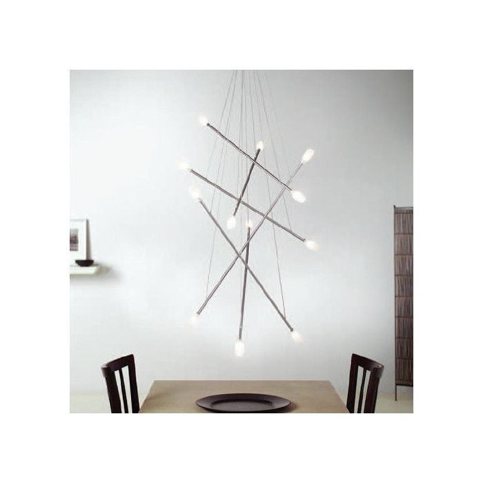 Lbl lighting batons 12 light chandelier allmodern