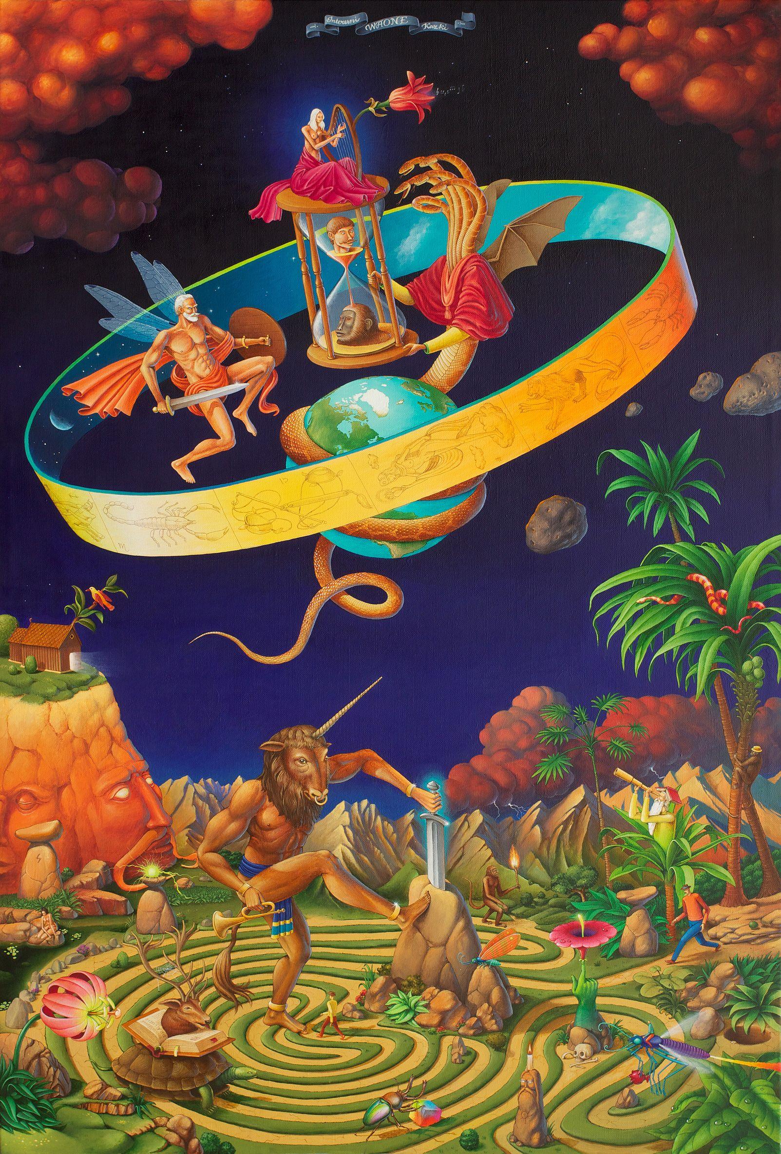 "Waone Interesni Kazki Labyrinth"" acrylic painting on canvas 130x200 cm, 2014"