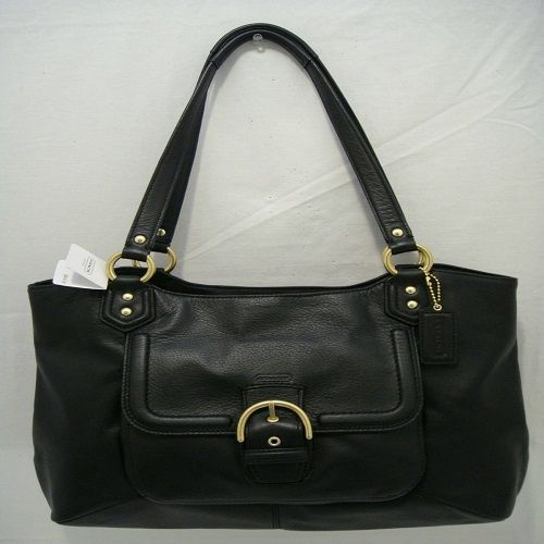 'BNWIT~ F24961 Coach Black Leather CarryAll' is going up for auction at  3pm Mon, Dec 9 with a starting bid of $1.