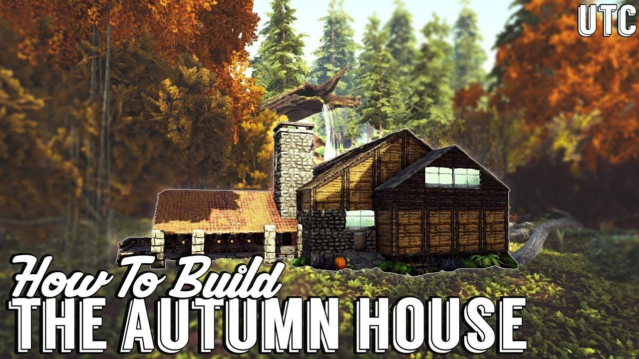 The Autumn House Ark Building Tutorial No Mods How To Build A Large House Y Ark Survival Evolved Bases Ark Survival Evolved Tips Ark Survival Evolved
