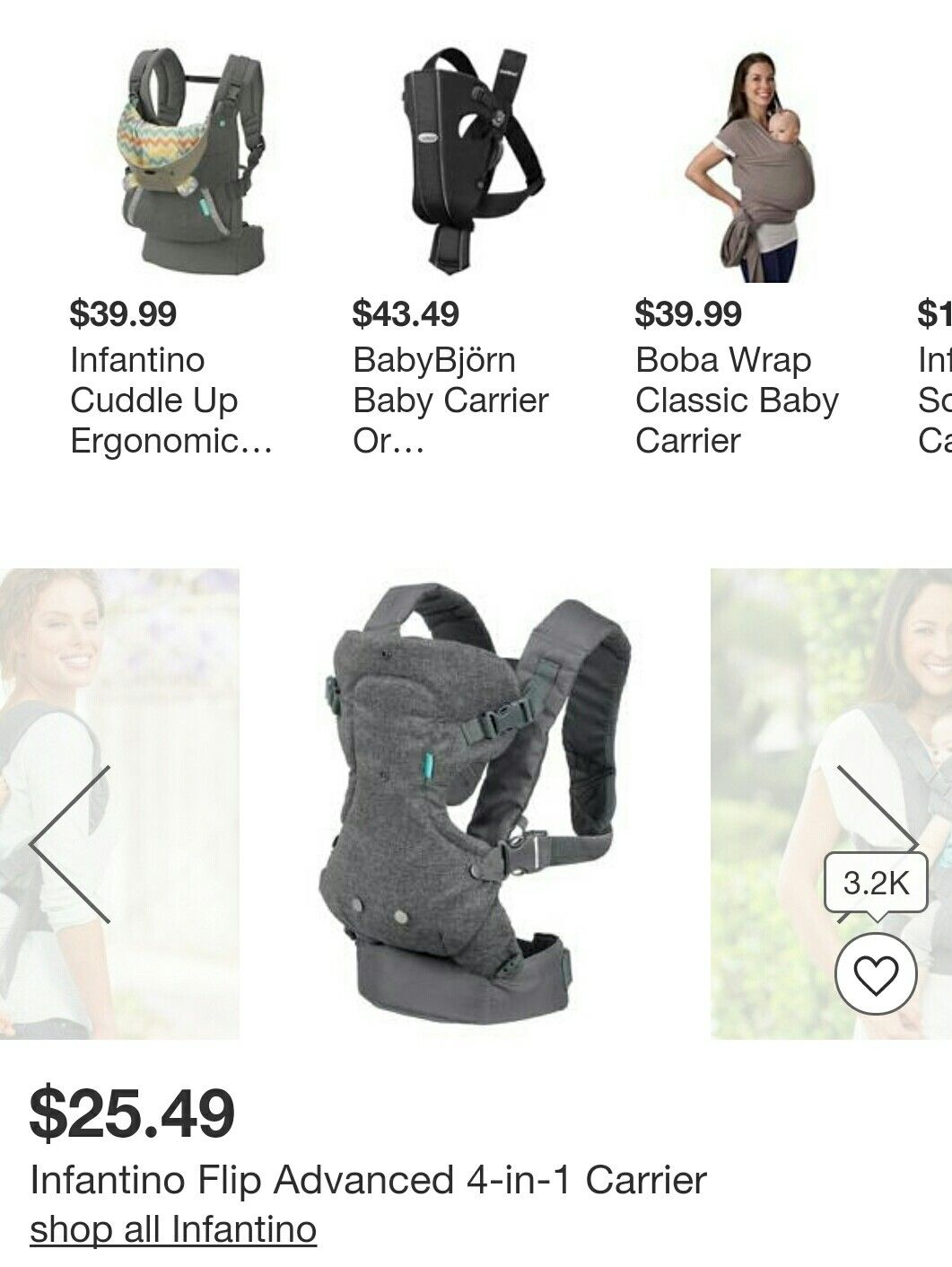 Infantino Flip Advanced 4 In 1 Baby Carrier Baby Gear For Dads