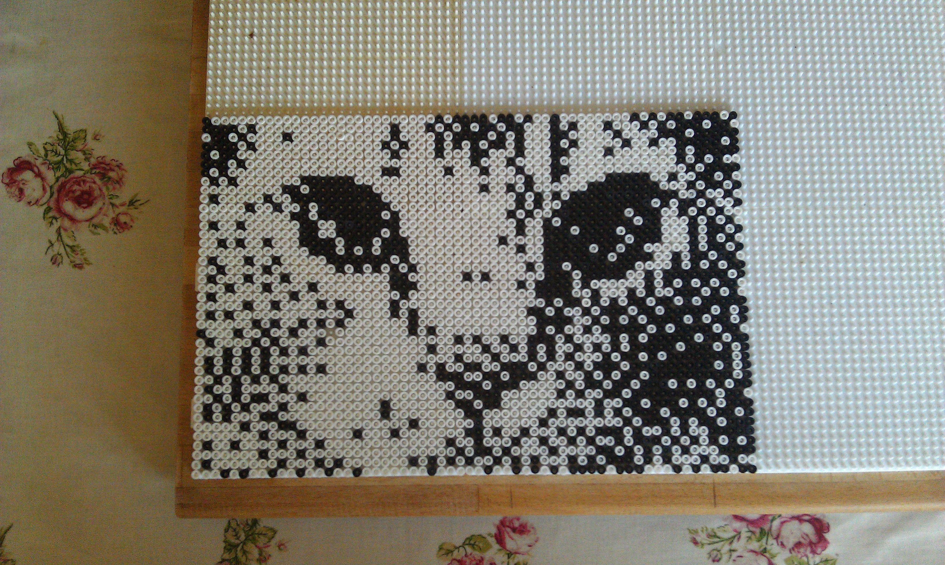 katte billede - skygge katte billede | Perler Beads (Bügelperlen ...