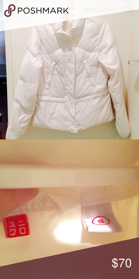 UNIQLO White Puffer Packable Lightweight Jacket Perfect