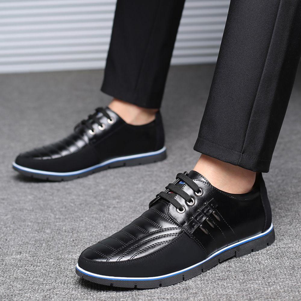 Sandales souples en cuir grande taille pour hommes