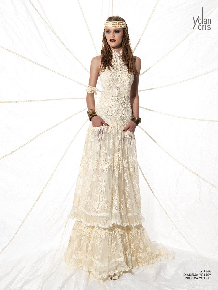 Boho Chic Wedding Gowns Dresses With Pockets Bohemian Bridal Brides