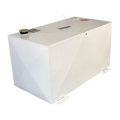 Better Built Steel Transfer Fuel Tank 100 Gallon Rectangular White Model 29224164 Transfer Tanks Fuel Storage Storage Tanks