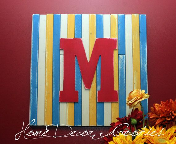 Sign Letter Wall Decor Letter Family Monogram by Homedecorgoodies