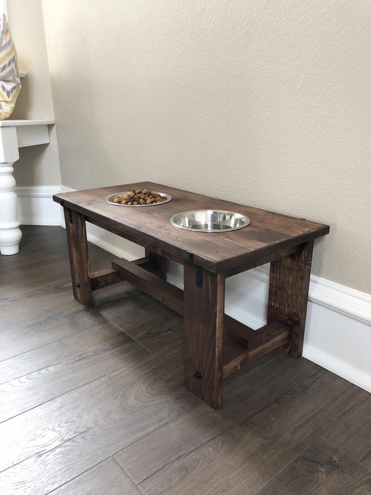 Diy dog bowl stand shanty 2 chic woodworkingdiypallet