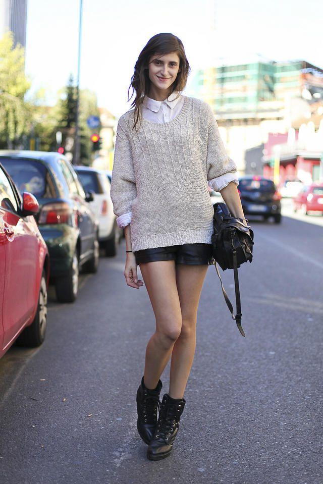 Sweater Blouse Combo Work Wear Style Street Style Sweater